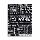 CALIFORNIA TYPOGRAPHY - Black