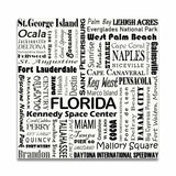 FLORIDA TYPOGRAPHY - White