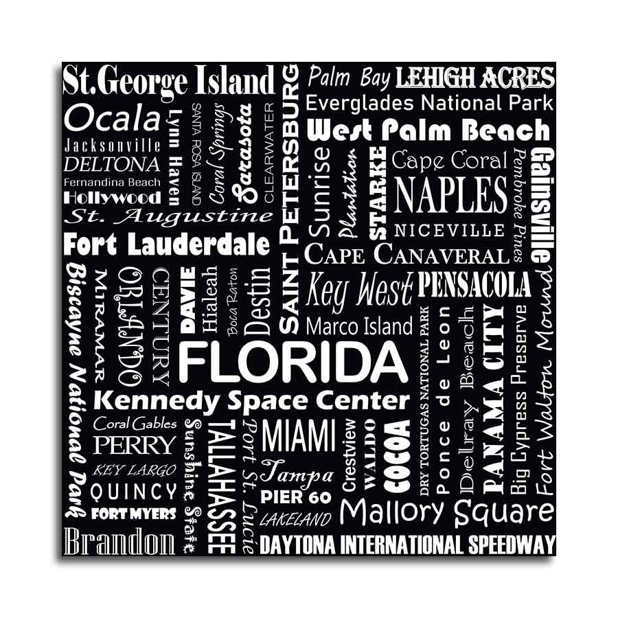 FLORIDA TYPOGRAPHY - Black