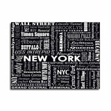 NEW YORK TYPOGRAPHY - Black