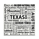 TEXAS TYPOGRAPHY - White