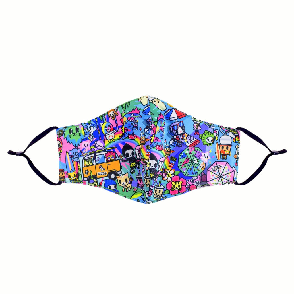 tokidoki Anti-Bacterial Reusable Mask - Pool Party