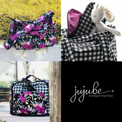 JuJuBe Onyx - Black & Bloom | Gingham Style | Gingham Bloom