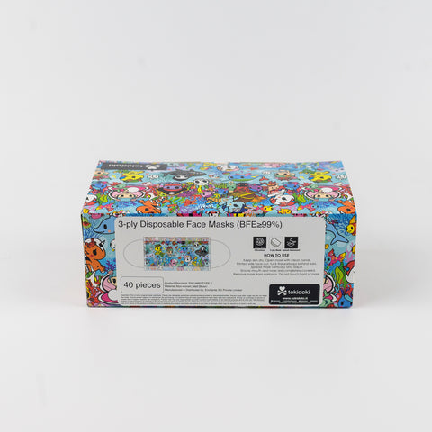 tokidoki Disposable Face Mask - Seapunk