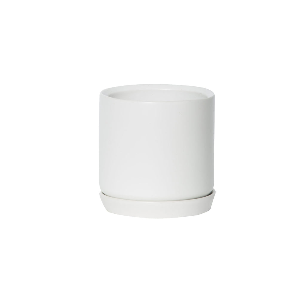 Small Oslo Planter Ice White