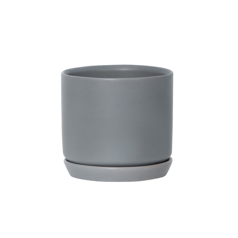 Medium Oslo Planter Grey Fog