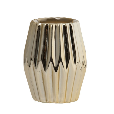 Gold Crimp Vase