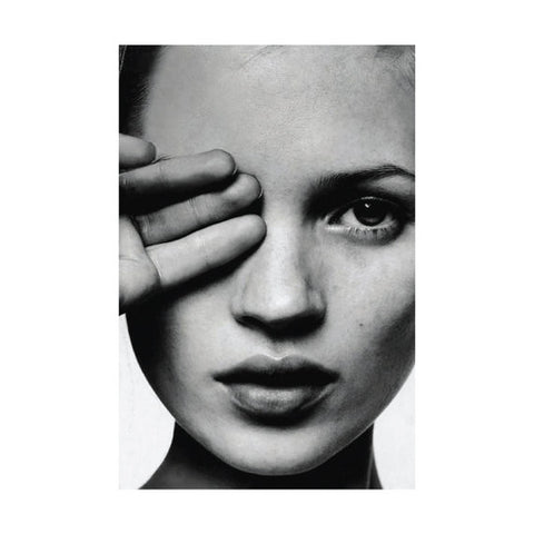 Kate Moss Hand Over Eye Print