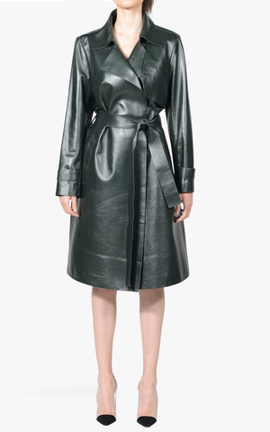 Chloe Leather Trench Coat