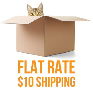 Flat rate $10.00 shipping