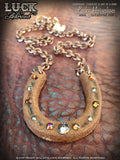 LUCK ADORNED - Lucky Horseshoe Necklace 1004