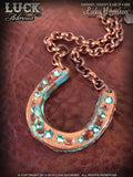 LUCK ADORNED - Lucky Horseshoe Necklace 1012