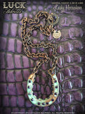 LUCK ADORNED - Lucky Horseshoe Necklace 1016