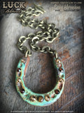 LUCK ADORNED Lucky Horse Shoe Necklace 1020