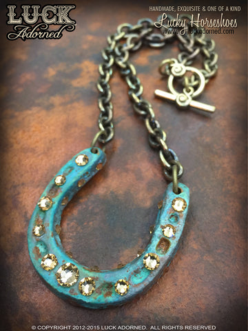 LUCK ADORNED - Lucky Horseshoe Necklace 1034
