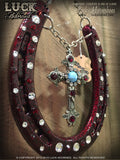 Crimson Faith Luck Adorned Lucky Horseshoe