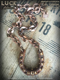 1602 Lucky Horseshoe necklace, horseshoe necklace, good luck, jewelry, lucky jewelry, necklace, copper, big, chunky, bold & badass, jewelry