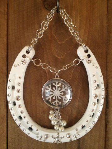 Luck Adorned Snowflakes Lucky Horseshoe