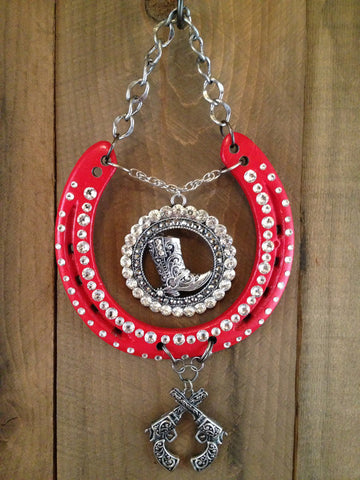 Luck Adorned Red Hot Lucky Horseshoe