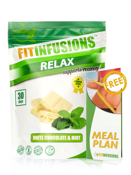 FItinfusions™ Relax White Chocolate & Mint - 30 servings + FREE Meal Plan