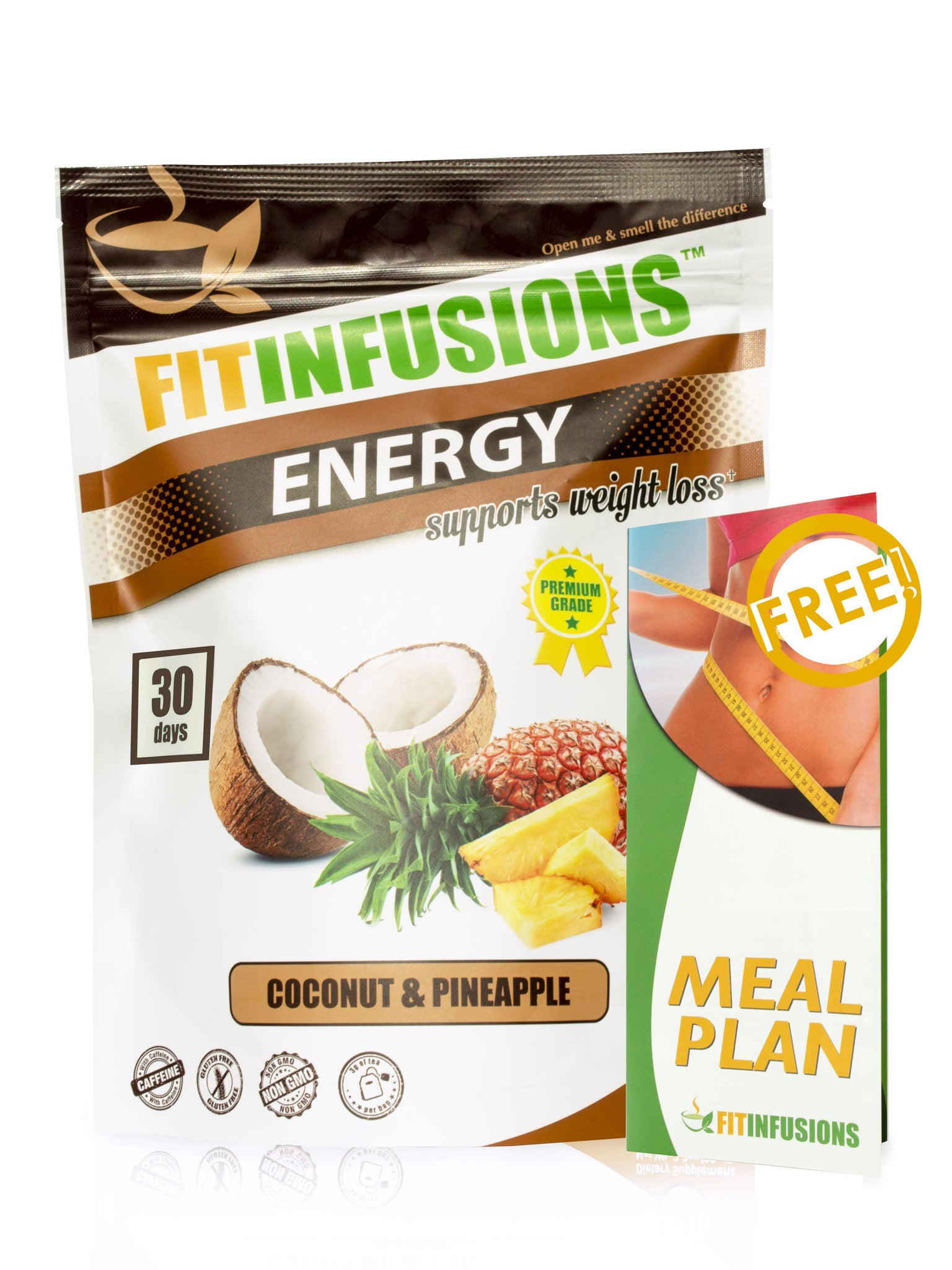 Buy herbal coconut weight loss - Fitinfusions Energy Coconut Pineapple 30 Servings Free Meal Plan