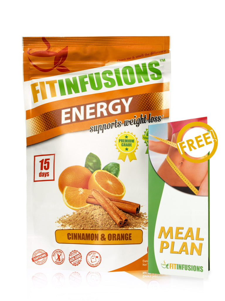 FItinfusions™ Energy Cinnamon & Orange - 15 servings + FREE Meal Plan