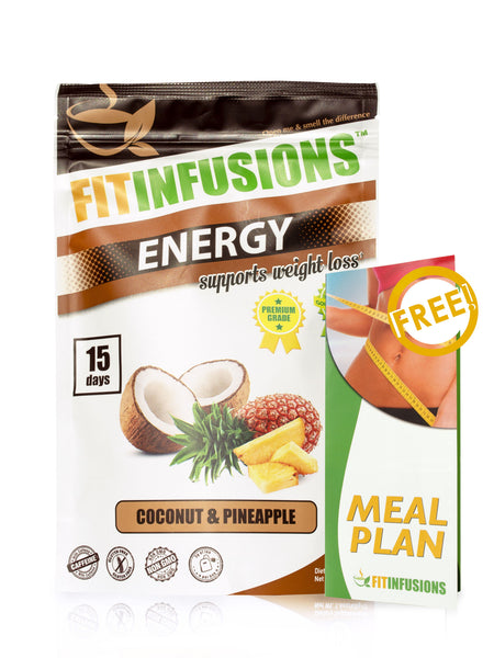 Fitinfusions™ Energy Coconut & Pineapple - 15 servings + FREE Meal Plan