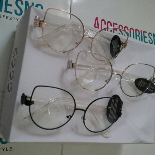 Cat Eye Clear Lens Sunglasses