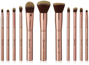 Bhcosmetics 11pcs Brushset with Cosmetics bag metal rose