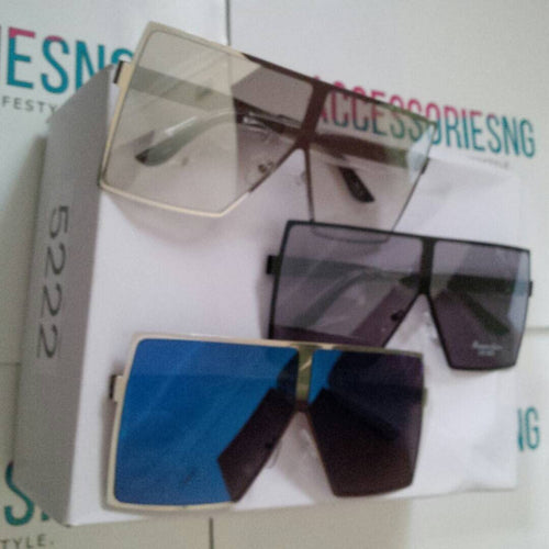 Square Lens Metal Sunglasses