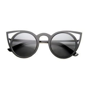 Laser Cat Eye Sunglasses - Black