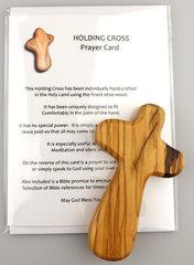 Olive Wood Holding Cross UK