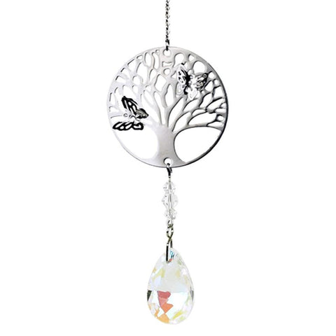 Feng-Shui Tree Of Life Hanging Crystal - Rainbow Clear-Chakra Gifts-Serenity Gifts