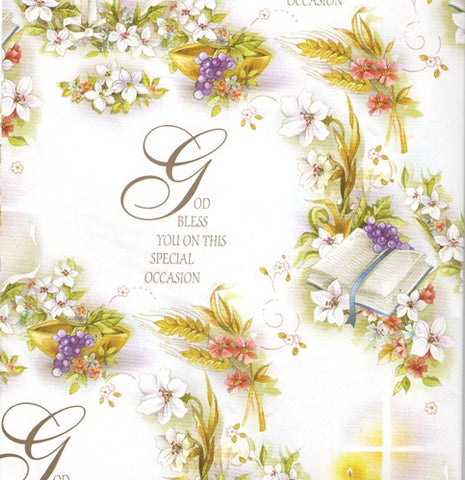 Baptism Special Occasion Gift Wrap with Tag-Baptism & Christening-Serenity Gifts