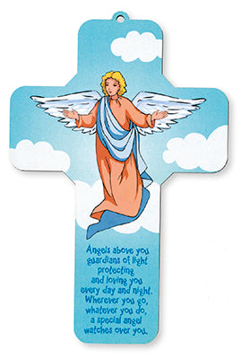 Angels Above You - Guardian Angel Wooden Cross-Baptism & Christening-Serenity Gifts
