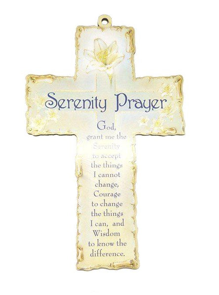 Wood Plaque Cross - Serenity Verse-Plaque-Serenity Gifts