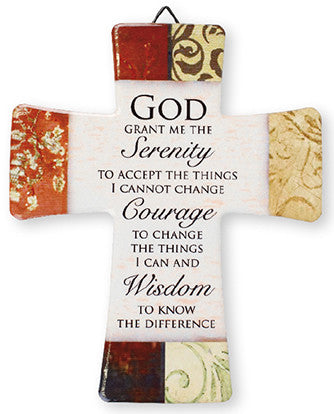 Serenity Prayer Porcelain Cross-Cross-Serenity Gifts