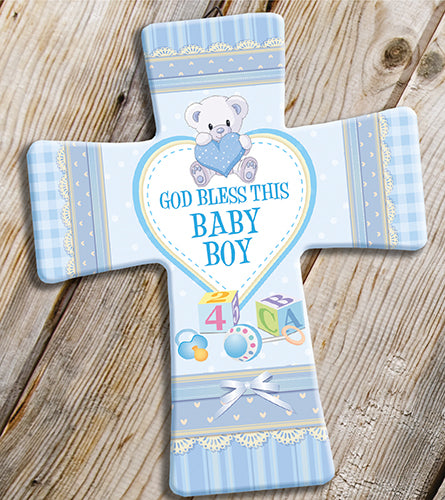 God Bless This Baby Boy Cross-Baptism & Christening-Serenity Gifts