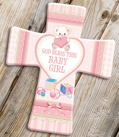 God Bless This Baby Girl Cross-Baptism & Christening-Serenity Gifts