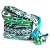 Jacquard Sling Shoulder Bag - Teal Mix-Bag-Serenity Gifts