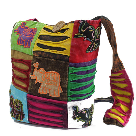 Ethnic Sling Shoulder Bag - Lucky Elephant-Bag-Serenity Gifts