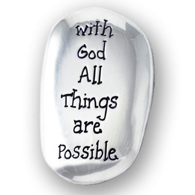 Pocket Token - Thumb Stone With God-Pocket Token-Serenity Gifts