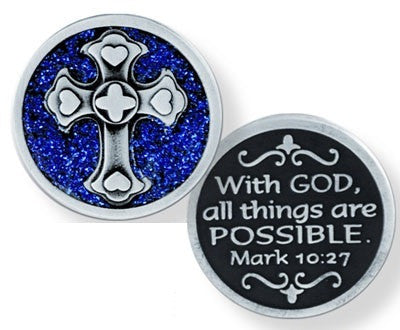Glitter Pocket Token - With God-Pocket Token-Serenity Gifts