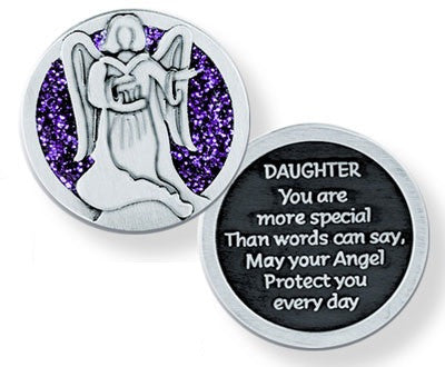 Glitter Pocket Token - Daughter-Pocket Token-Serenity Gifts