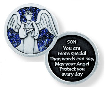Glitter Pocket Token - Son-Pocket Token-Serenity Gifts