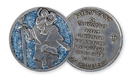 Glitter Pocket Token - Saint Christopher-Pocket Token-Serenity Gifts