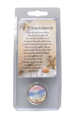 Pocket Token and Prayer Card Gift Set - Footprints-Pocket Token-Serenity Gifts