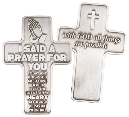 Cross Pocket Token - I Said A Prayer-Pocket Token-Serenity Gifts