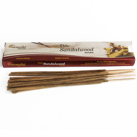 Aromatika Vedic Natural Incense Sticks - Sandalwood-Incense-Serenity Gifts