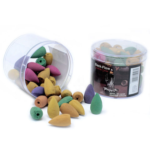 Tub of Assorted Backflow Incense Cones-Incense-Serenity Gifts